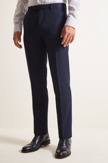 Moss 1851 Tailored Fit Blue Twill Trouser