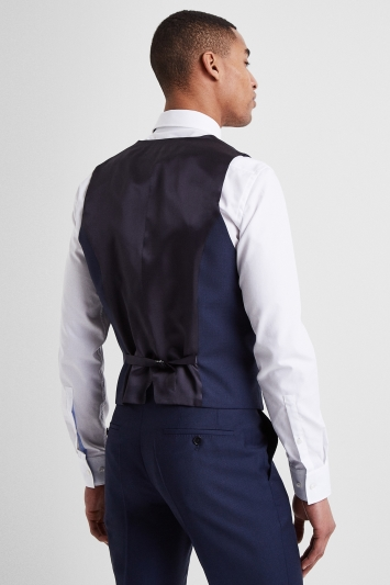 HUGO by Hugo Boss Navy Birdseye Waistcoat