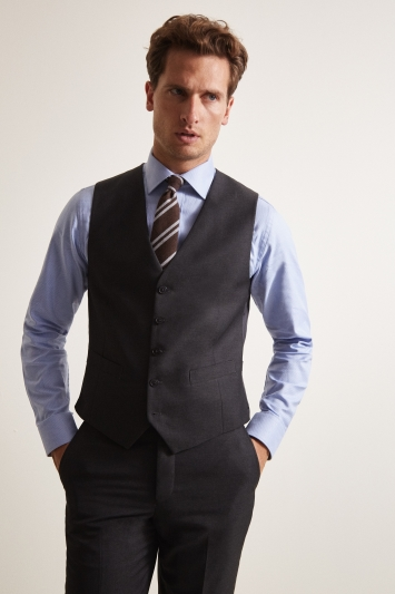 Moss 1851 Tailored Fit Charcoal Waistcoat