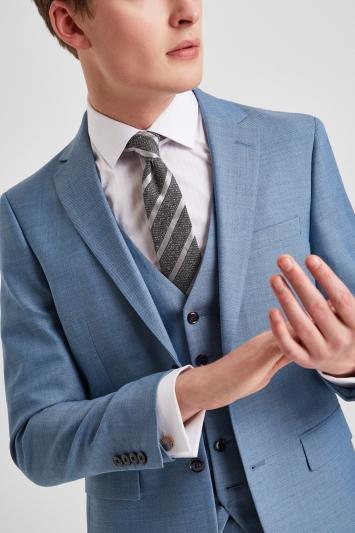 DKNY Slim Fit Light Blue Texture Jacket