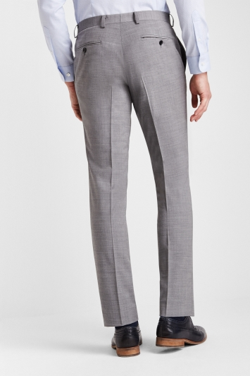 Moss 1851 Performance Slim Fit Light Grey Trousers