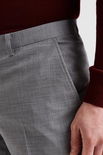 Moss 1851 Performance Regular Fit Light Grey Trousers