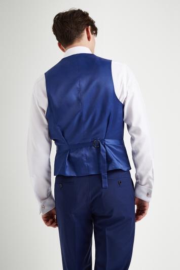 Moss 1851 Performance Regular Fit Royal Blue Waistcoat