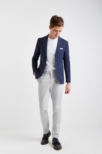 Moss London Slim Fit Navy Lightweight Linen Jacket