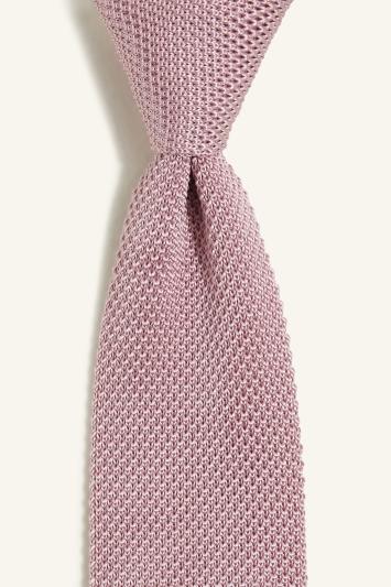 Pink Knitted Silk Tie