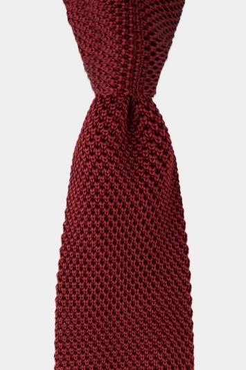 Wine Knitted Silk Tie