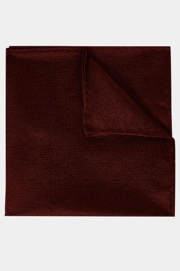 Moss 1851 Burgundy Melange Silk Pocket Square