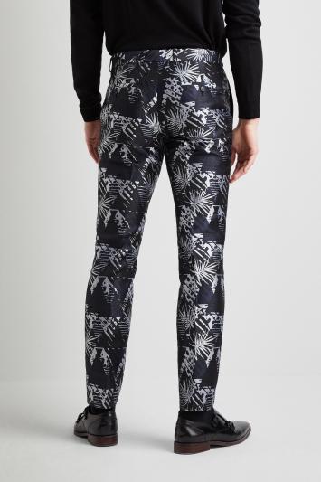 Moss London Slim Fit Navy Safari Dress Trousers