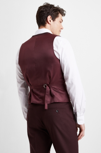 Moss London Slim Fit Copper Double Breasted Waistcoat