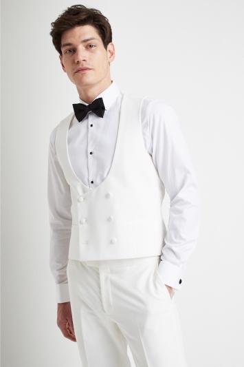 Slim Fit White Tuxedo Waistcoat