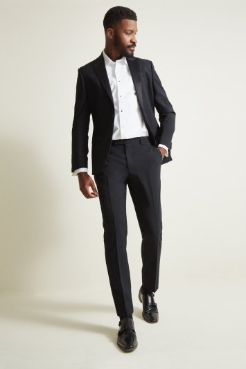 Tailored Fit Black Dress Jacket