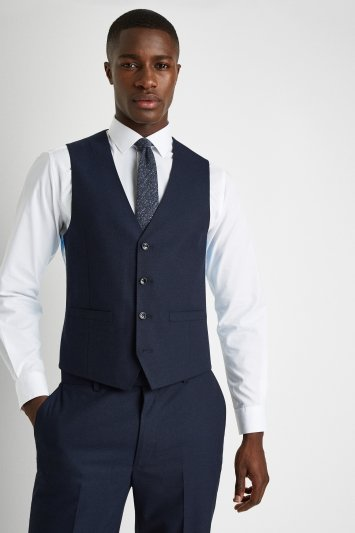 French Connection Slim Fit Navy Waistcoat
