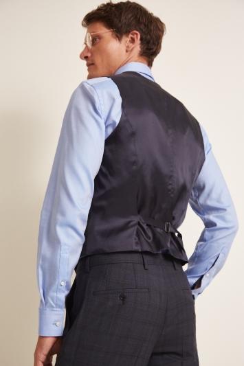 HUGO by Hugo Boss Navy Check Waistcoat