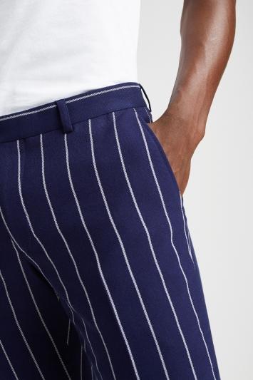 Moss London Slim Fit Boat Stripe Trousers