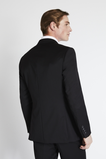 Savoy Taylors Guild Regular Fit Black Twill Jacket