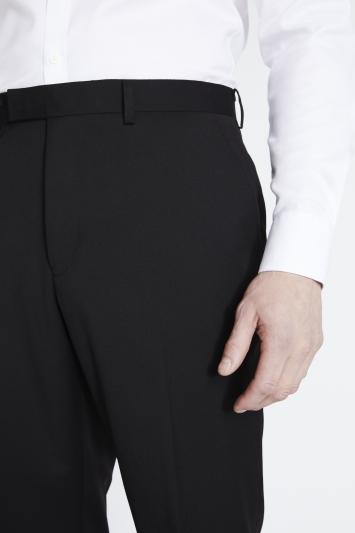 Savoy Taylors Guild Regular Fit Black Twill Trousers