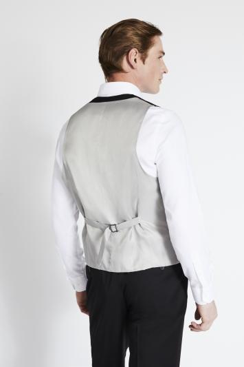 Savoy Taylors Guild Regular Fit Black Twill Waistcoat
