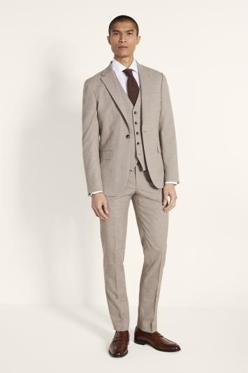 Moss London Slim Fit Neutral Lightweight Jacket