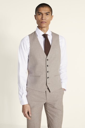 Slim Fit Neutral Waistcoat