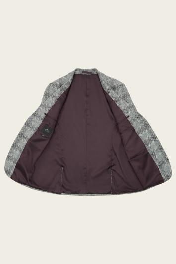 Moss London Slim Fit Black & White Check Jacket