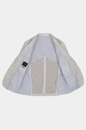 Moss London Slim Fit Light Grey Texture Jacket