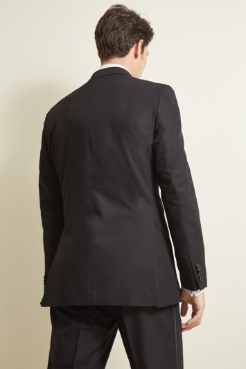 Moss Esq. Regular Fit Black Peak Dress Jacket
