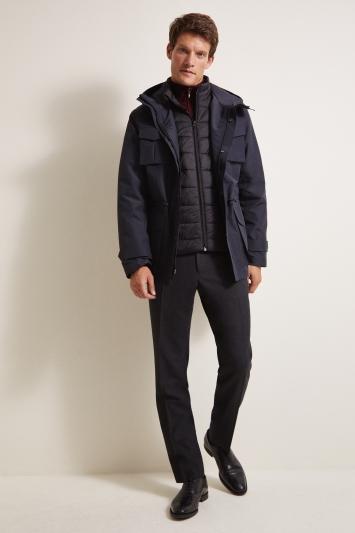 Moss 1851 Tailored Fit Navy Premium Field 4 Pocket Jacket