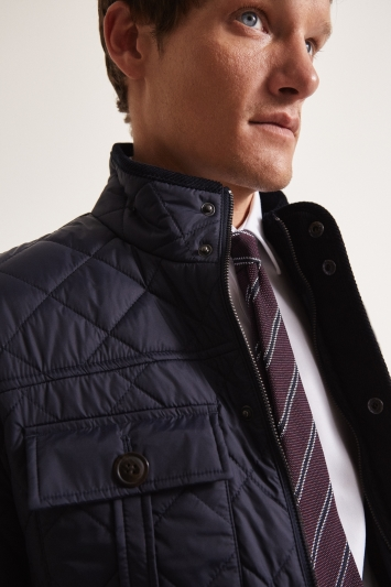 Moss 1851 Tailored Fit Diamond Quilted Jacket