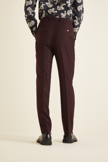 French Connection Slim Fit Malbec Flannel Trousers