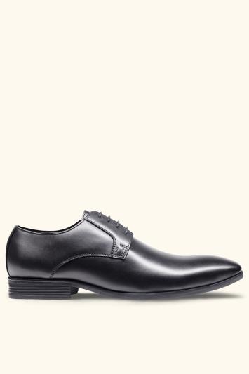 Moss London Fitzroy Black Derby Shoes