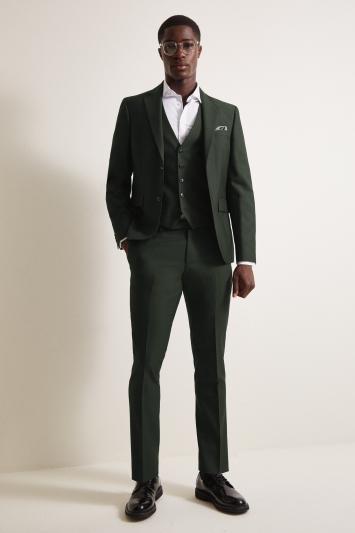 DKNY Slim Fit Green Jacket