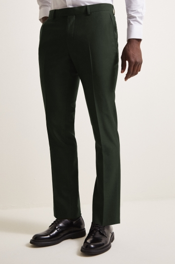 DKNY Slim Fit Green Trousers