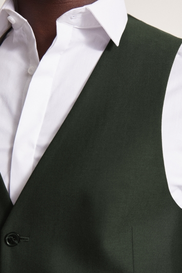 DKNY Slim Fit Green Waistcoat