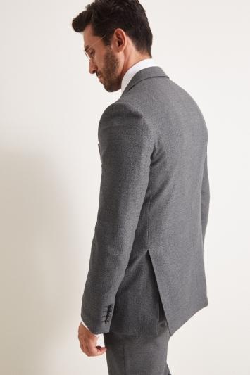 Moss Esq. Regular Fit Grey Textured Jacket