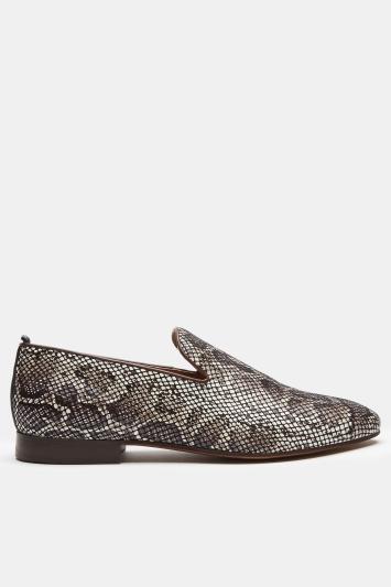 H by Hudson Bolton Snakeskin Saddle Loafer