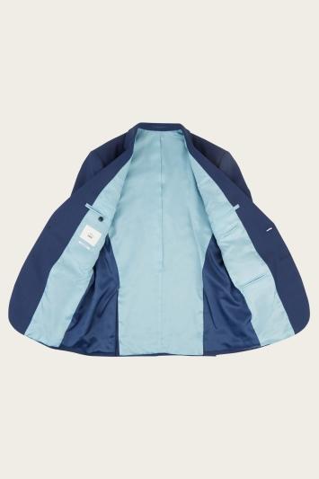 Moss 1851 Tailored Fit Indigo Sharkskin Jacket