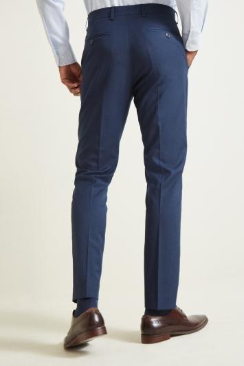 Moss 1851 Tailored Fit Indigo Sharkskin Trouser