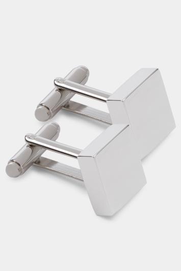 Silver Polished Rhodium Cufflinks