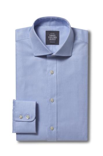 Regular Fit Sky Dobby Shirt