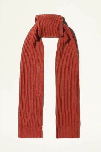 Moss Bros. Burnt Orange Chunky Knitted Scarf