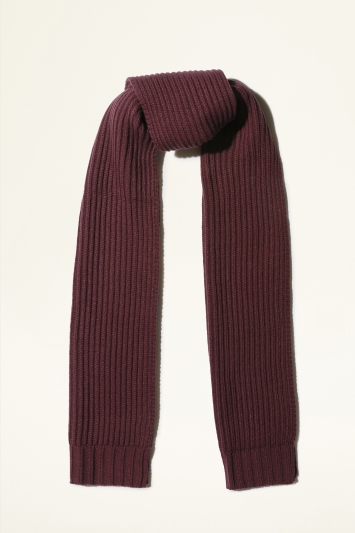 Moss Bros. Burgundy Chunky Knitted Scarf