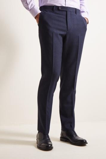 Ermenegildo Zegna Cloth Tailored Fit Blue Check Trousers