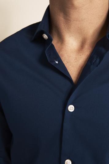 Slim Fit Navy Stretch Shirt
