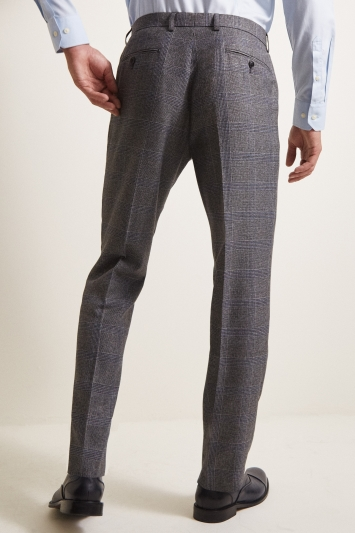 Moss 1851 Tailored Fit eco Grey Check Trouser