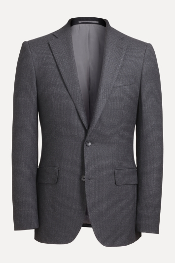 Ermenegildo Zegna Cloth Tailored Fit Charcoal Puppytooth Jacket