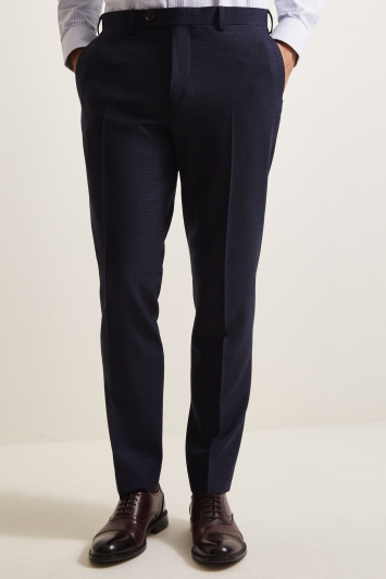 Ermenegildo Zegna Cloth Tailored Fit Blue Puppytooth Jacket