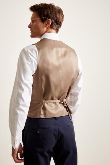 Moss 1851 Tailored Fit Brown Herringbone Waistcoat