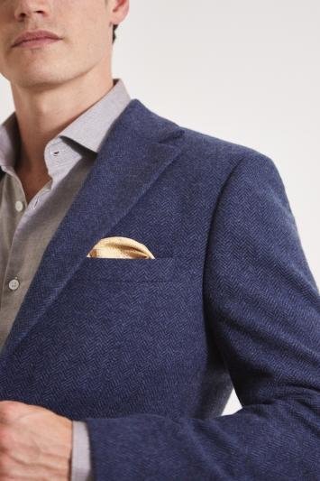 Moss 1851 Tailored Fit Navy Herringbone Jacket