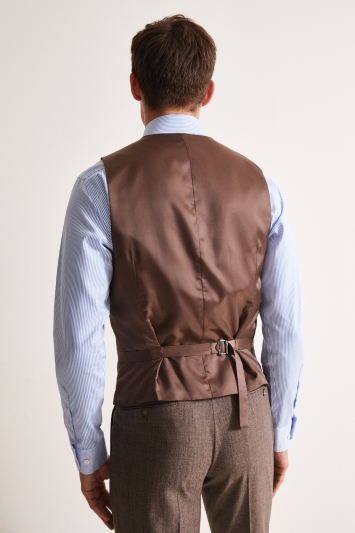 Moss 1851 Performance Tailored Fit Biscuit Milled Waistcoat