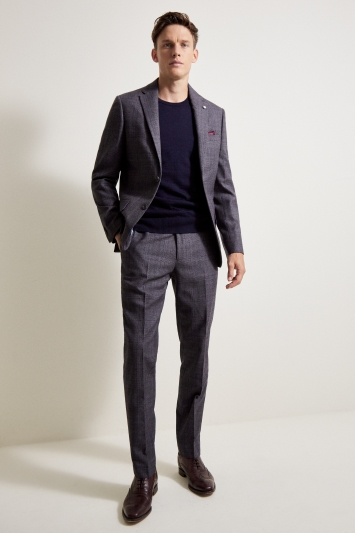 Ted Baker Tailored Fit Grey Lilac Check Jacket